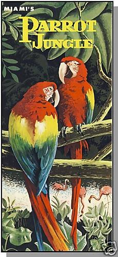 Rare MIAMI, FLORIDA/FL BROCHURE, Parrot Jungle,1960's?