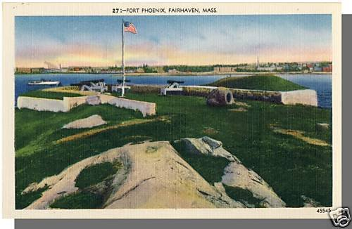 FAIRHAVEN, MASS/MA POSTCARD, Fort Phoenix, Near Mint!