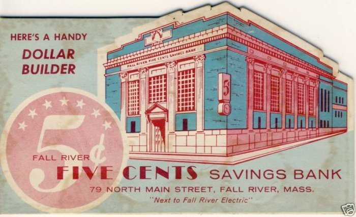 FALL RIVER, MASS/MA,FR Five Cents,Dime/Quarter Saver