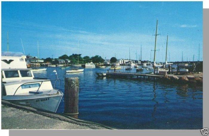 FALMOUTH, MASS/MA POSTCARD, Harbor/Yacht Club, Cape Cod