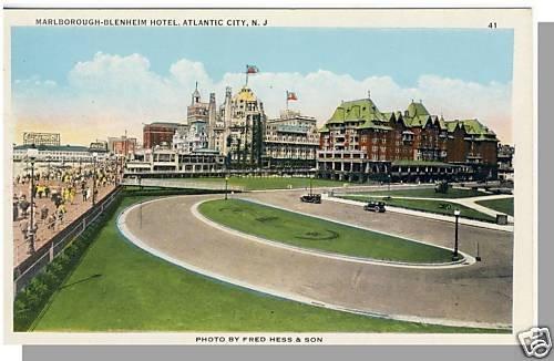 ATLANTIC CITY, NEW JERSEY/NJ POSTCARD,Marlborough Hotel