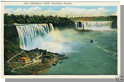 Nice NEW YORK/NY POSTCARD, Niagara Falls, General View