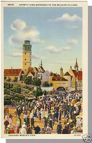 CHICAGO, ILLINOIS/IL POSTCARD, World's Fair/Belgian Vlg