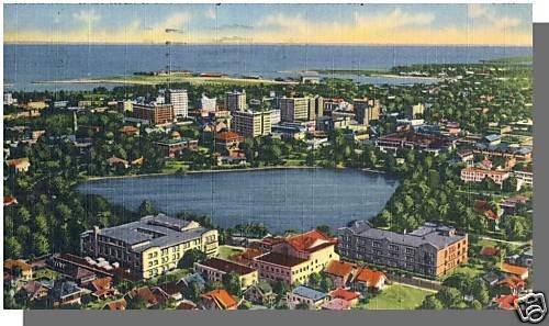 Nice ST. PETERSBURG, FLORIDA/FL POSTCARD, Aerial View