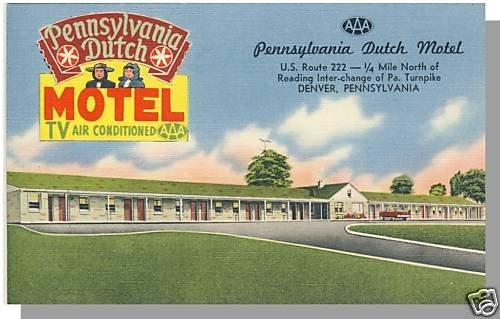 DENVER, PENNSYLVANIA/PA POSTCARD, Penn Dutch Motel