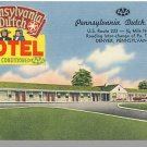 DENVER, PENNSYLVANIA/PA POSTCARD, Penn Dutch Motel