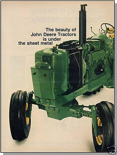 1971 JOHN DEERE 2-PAGE AD, Turbo-Built Farm Tractor,