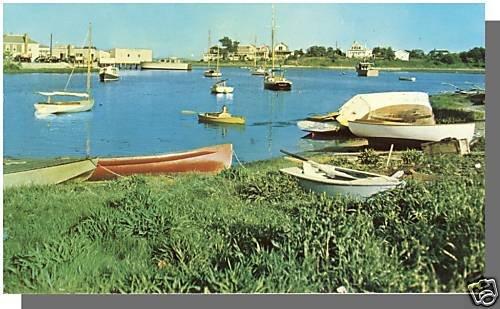 HYANNIS, MASS/MA POSTCARD, Harbor & Park, Cape Cod