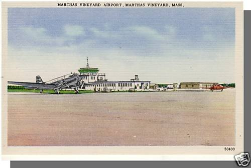 MARTHA'S VINEYARD, MASS/MA POSTCARD, Airport, Cape Cod