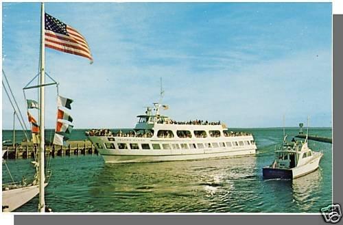 FALMOUTH, MASS/MA POSTCARD,Island Queen Ferry, Cape Cod