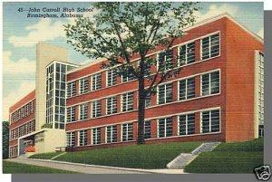 BIRMINGHAM, ALABAMA/AL POSTCARD, Carroll High School