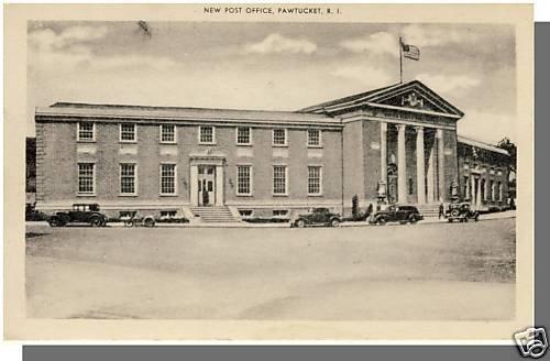 Early PAWTUCKET, RHODE ISLAND/RI POSTCARD, Post Office