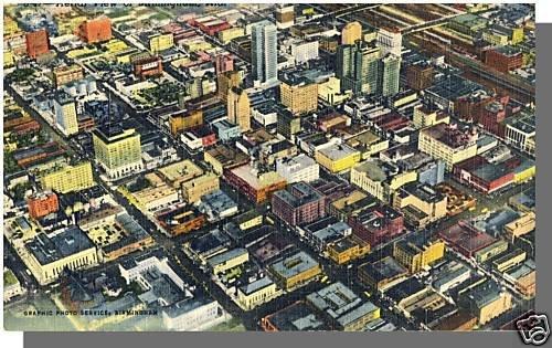 BIRMINGHAM, ALABAMA/AL POSTCARD, Aerial View Of City