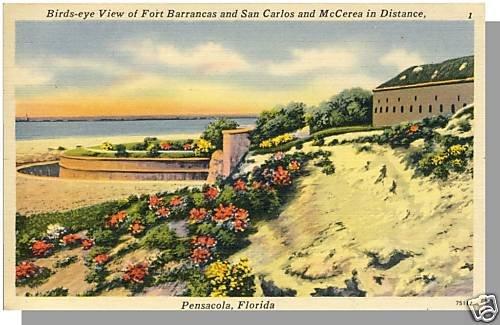 PENSACOLA, FLORIDA/FL POSTCARD, Fort Barrancas/McCerea