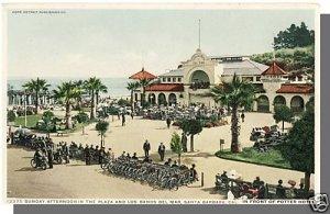 SANTA BARBARA, CALIFORNIA/CA POSTCARD,Los Banos Del Mar