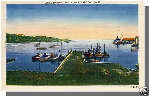 WOODS HOLE, MASS/MA POSTCARD, Little Harbor, Cape Cod