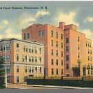 MANCHESTER, NEW HAMPSHIRE/NH POSTCARD,Sacred Heart Hosp