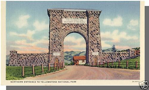 GARDINER, MONTANA/MT POSTCARD, Yellowstone National Park