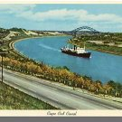 CAPE COD CANAL, MASS/MA POSTCARD,Bourne/Sagamore Bridge