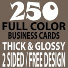 250 Doublesided Business Cards