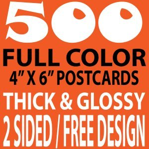 500 4x6 full color double sided uv coated flyers
