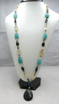 Bohemian Style Natural gemstone Necklace! Low Price!