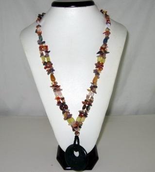 Multicolor Bohemian Natural gemstone Fashion Necklace