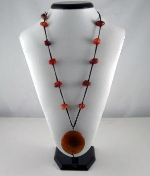 Bohemian Style Natural Red color gemstone Necklace
