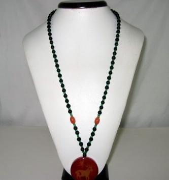 Bohemian Style Natural gemstone Pendant Necklace