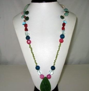 Bohemian Style Beautiful Natural gemstone Necklace