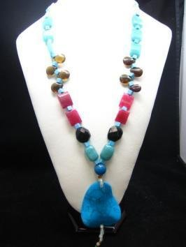 Bohemian Style Natural gemstone Turquoise Necklace