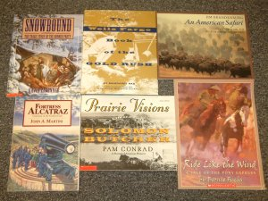 6 books Snowbound The Donner Party, Fortress Alcatraz