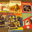 6 books Firefighters A to Z, Dot the Fire Dog, Tonka Fire Truck