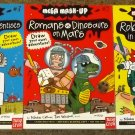 3 Mega Mash Up books Robots VS Gorillas in the Desert