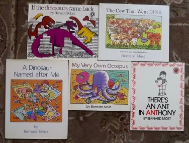 5 Bernard Most books My Very Own Octopus, If the dinosaurs came back, The Cow