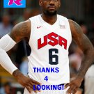 LEBRON JAMES 2012 TEAM USA BASKETBALL OLYMPIC CARD