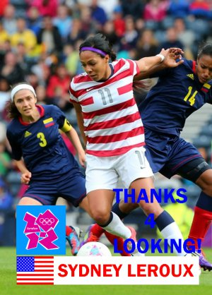 SYDNEY LEROUX 2012 TEAM USA OLYMPIC SOCCER CARD