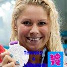 ELIZABETH BEISEL 2012 TEAM USA OLYMPIC CARD *** SILVER MEDAL WINNER!***