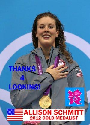ALLISON SCHMITT 2012 TEAM USA OLYMPIC CARD *** GOLD MEDAL WINNER!***