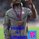 JUSTIN GATLIN 2012 TEAM USA OLYMPIC CARD *** BRONZE MEDAL WINNER!***