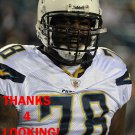 JARED GAITHER 2012 SAN DIEGO CHARGERS FOOTBALL CARD