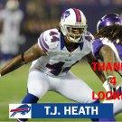 T.J. HEATH 2012 BUFFALO BILLS FOOTBALL CARD