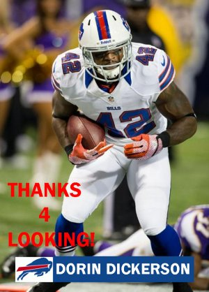 DORIN DICKERSON 2012 BUFFALO BILLS
