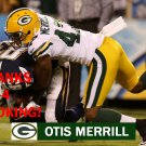 OTIS MERRILL 2012 GREEN BAY PACKERS FOOTBALL CARD