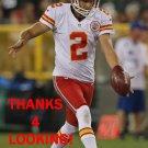 DUSTIN COLQUITT 2012 KANSAS CITY CHIEFS FOOTBALL CARD