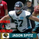 JASON SPITZ 2012 JACKSONVILLE JAGUARS FOOTBALL CARD