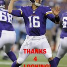 MATT CASSEL 2013 MINNESOTA VIKINGS FOOTBALL CARD