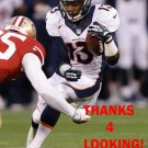 KEMONTE' BATEMAN 2013 DENVER BRONCOS FOOTBALL CARD