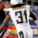 RICHARD MARSHALL 2013 SAN DIEGO CHARGERS FOOTBALL CARD