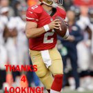 COLT McCOY 2013 SAN FRANCISCO 49ERS FOOTBALL CARD